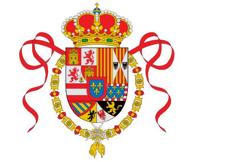 Флаг Испании с 1701 по 1748 годы